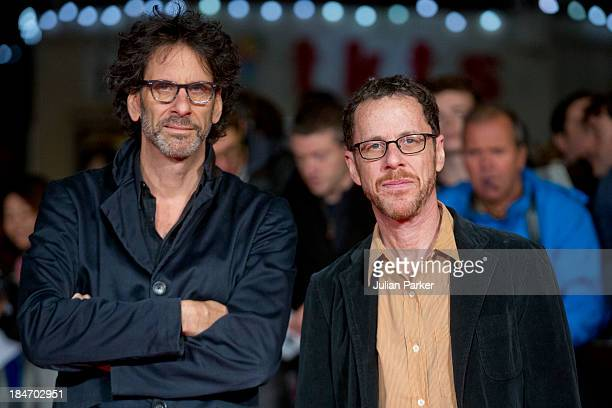 Joel Coen and Ethan Coen attend the screening of Inside Llewyn Davis Centrepiece Gala Supported By The Mayor Of London during the 57th BFI London...