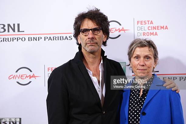 Joel Coen and Frances McDormand attend a photocall during the 10th Rome Film Fest on October 16 2015 in Rome Italy