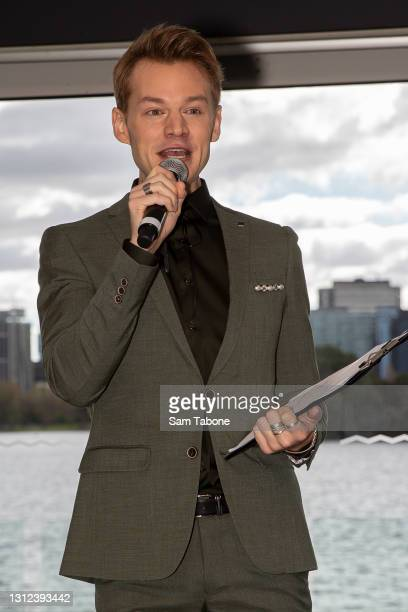 Joel Creasy attends the cast announcement for The Real Housewives of Melbourne season 5 on April 14, 2021 in Melbourne, Australia.