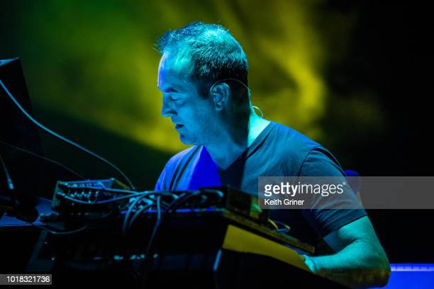 Joel Cummins of Umphrey's McGee performs at The Lawn at White River State Park on August 11 2018 in Indianapolis Indiana