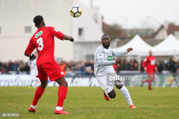 Joel Da Silva Paulo of Houilles during the french National Cup match between Houilles and Concarneau on January 6 2018 in Houilles France