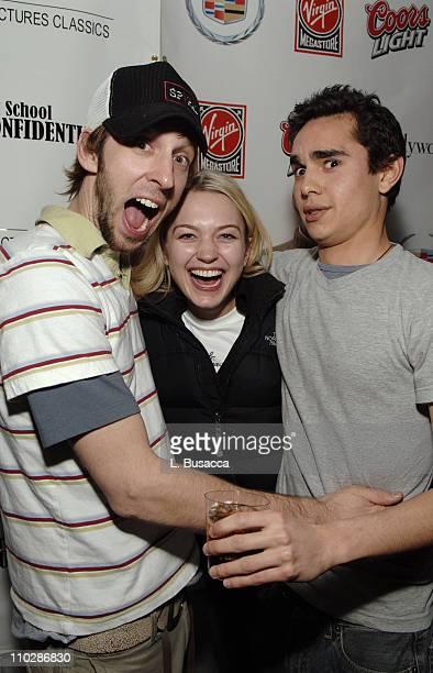 Joel David Moore Sophia Myles and Max Minghella during 2006 Park City Cadillac Lounge Art School Confidential Party at Cadillac Lounge in Park City...