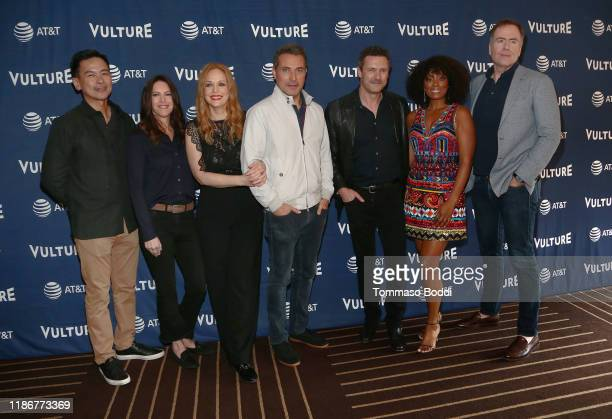 Joel de la Fuente Isa Dick Hackett Chelah Horsdal Rufus Sewell Jason O'Mara Frances Turner and David Scarpa attend Vulture Festival Presented By ATT...