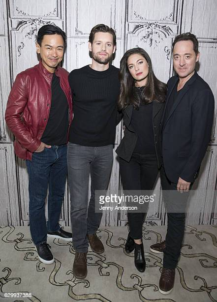Joel de la Fuente Luke Kleintank Alexa Davalos and Brennan Brown attend AOL Build Series to discuss 'The Man In The High Castle' at AOL HQ on...