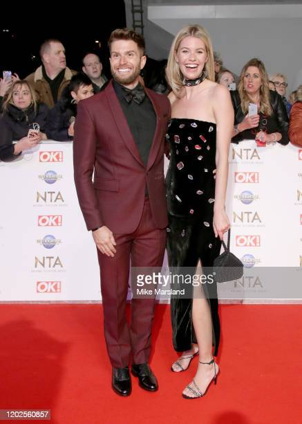 Joel Dommett and Hannah Cooper attend the National Television Awards 2020 at The O2 Arena on January 28 2020 in London England