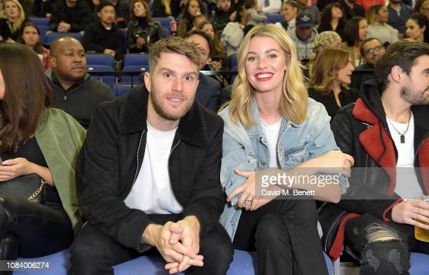 Joel Dommett and Hannah Cooper attend the NBA London Game 2019 between the Washington Wizards and New York Knicks at The O2 Arena on January 17 2019...