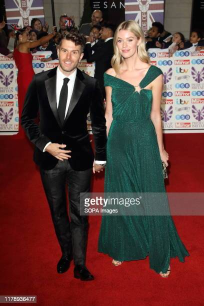 Joel Dommett and Hannah Cooper on the red carpet at The Daily Mirror Pride of Britain Awards in partnership with TSB at the Grosvenor House Hotel...