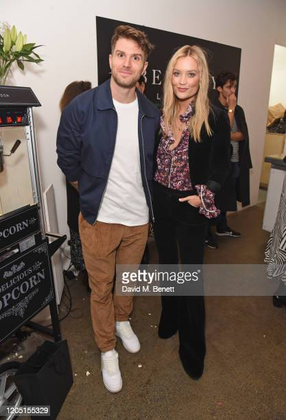 Joel Dommett and Laura Whitmore attend the launch of Berkley London a bespoke luxury chauffeur concierge founded by John Newman at The Yard...