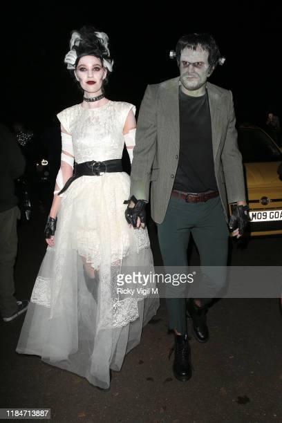 Joel Dommett seen attending Jonathan Ross Halloween party on October 31 2019 in London England