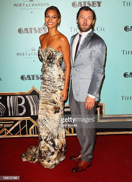 Joel Edgerton and Alexis Blake arrive for the Sydney premiere of 'The Great Gatsby' at The Entertainment Quarter on May 22 2013 in Sydney Australia