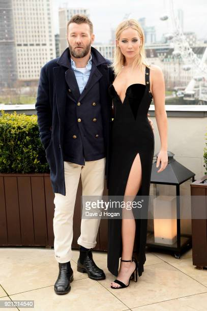 Joel Edgerton and Jennifer Lawrence attend the 'Red Sparrow' photocall at The Corinthia Hotel on February 20 2018 in London England