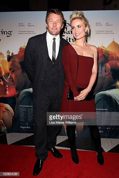 Joel Edgerton and Radha Mitchell arrive at the premiere of The Waiting City at Dendy Opera Quays on July 5 2010 in Sydney Australia