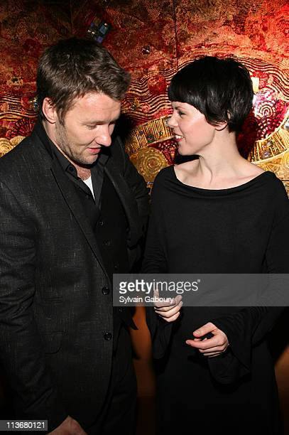 Joel Edgerton and SarahJane Potts during Miramax Films 'Kinky Boots' New York Premiere After Party at Fizz in New York City New York United States