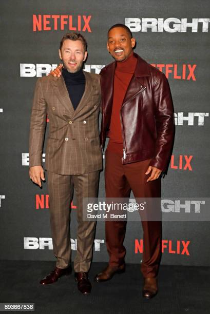 Joel Edgerton and Will Smith attend the European Premeire of 'Bright' held at BFI Southbank on December 15 2017 in London England