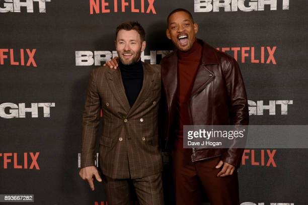 Joel Edgerton and Will Smith attend the European Premiere of 'Bright' held at BFI Southbank on December 15 2017 in London England
