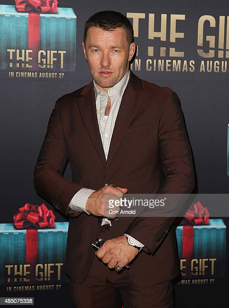 Joel Edgerton arrives ahead of 'The Gift' Sydney Premiere at Event Cinemas George Street on August 24 2015 in Sydney Australia