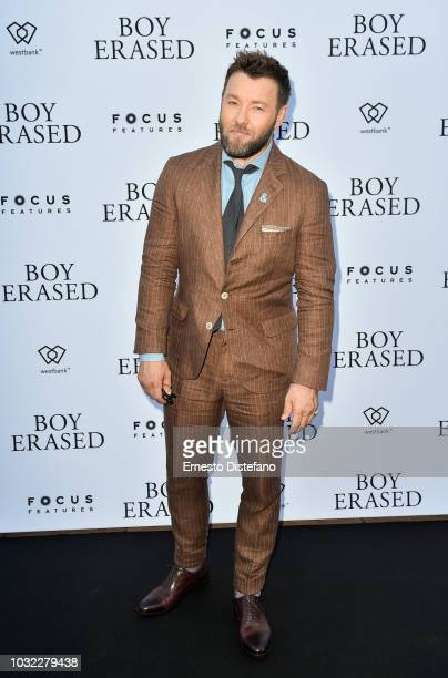 Joel Edgerton attends the 'Boy Erased' preparty presented by Focus Feature and Westbank during 2018 Toronto International Film Festival held at...