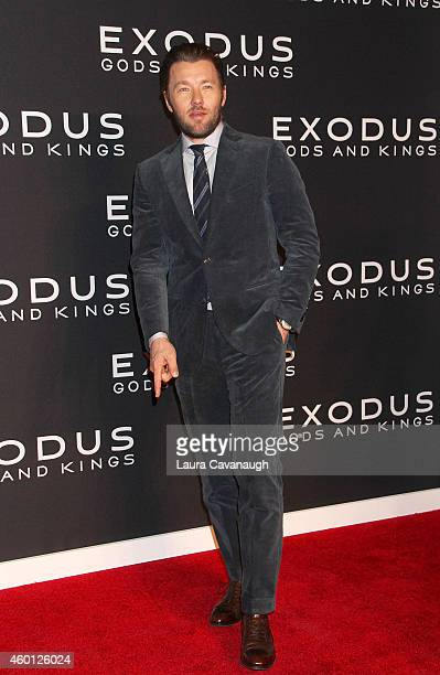 Joel Edgerton attends the Exodus Gods And Kings New York Premiere at Brooklyn Museum on December 7 2014 in New York City