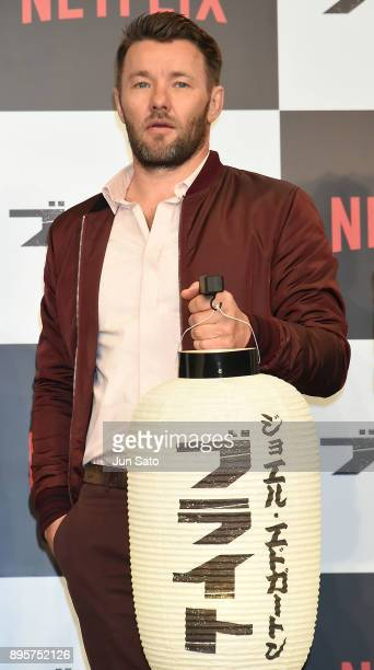 Joel Edgerton attends the press conference for 'Bright' at the RitzCarlton on December 20 2017 in Tokyo Japan