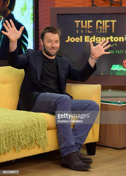 Joel Edgerton is seen on the set of Despierta America to promote the film 'The Gift' at Univision Studios on July 29 2015 in Miami Florida