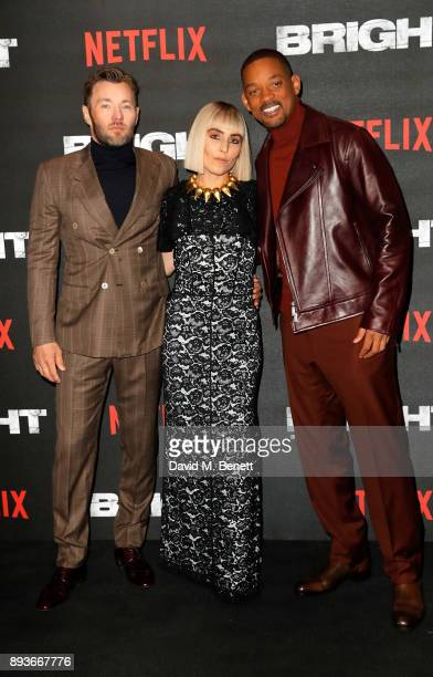 Joel Edgerton Noomi Rapace and Will Smith attend the European Premeire of 'Bright' held at BFI Southbank on December 15 2017 in London England