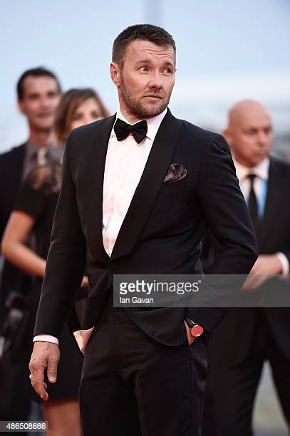 Joel Edgerton wearing a JaegerLeCoultre watch attends the'Black Mass' premiere during the 72st Venice Film Festival at the Palazzo del Casino on...