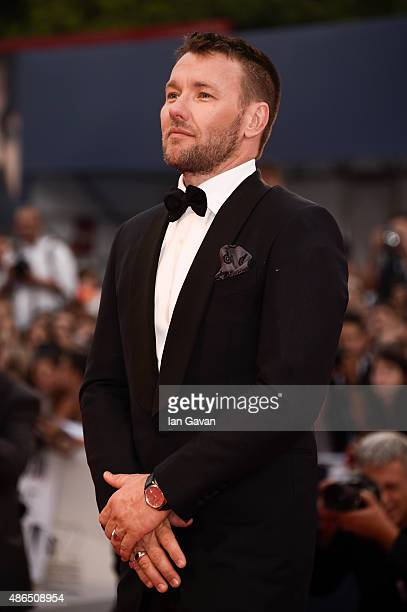 Joel Edgerton wearing a JaegerLeCoultre watch attends theBlack Mass premiere during the 72st Venice Film Festival at the Palazzo del Casino on...