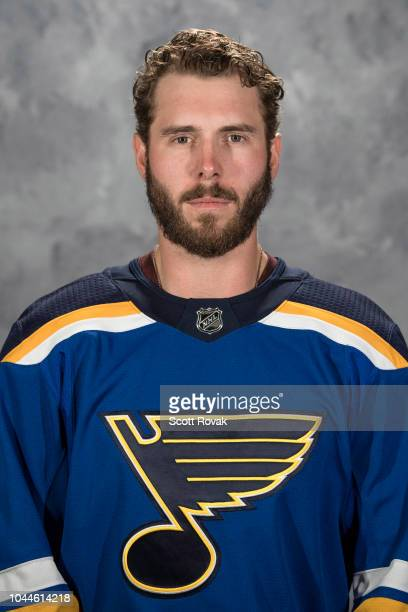 Joel Edmundson of the St Louis Blues poses for his official headshot for the 20182019 season on September 13 2018 in St Louis Missouri