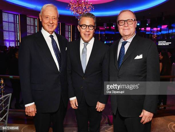 Joel Ehrenkranz Russell Granet and Thomas H Lee attend the Lincoln Center Alternative Investment Industry Gala on April 16 2018 at The Rainbow Room...