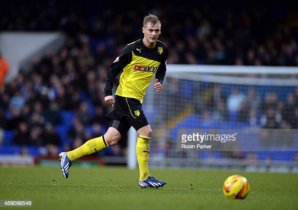 Joel Ekstrand of Watford during the Sky Bet Championship match between Ipswich Town and Watford at Portman Road on December 21, 2013 in Ipswich,...