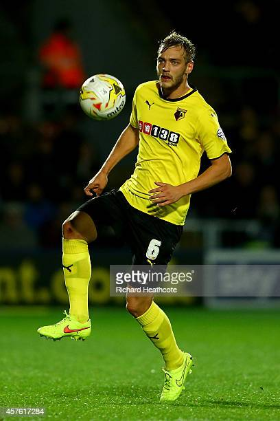 Joel Ekstrand of Watford in action during the Sky Bet Championship match between Watford and Nottingham Forest at Vicarage Road on October 21, 2014...