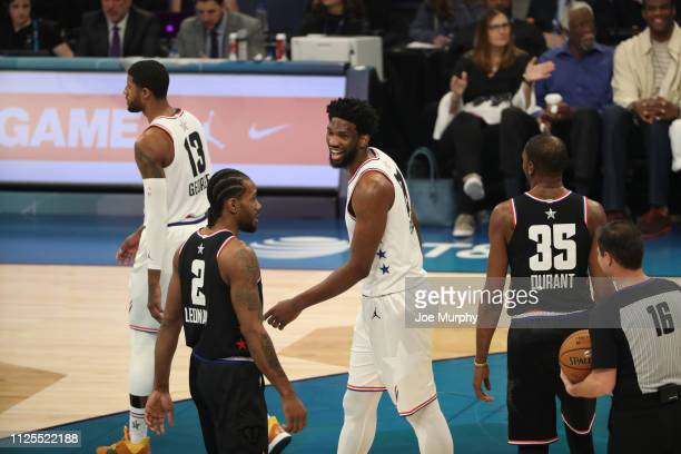 Joel Embiid of Team Giannis laughs during the 2019 NBA AllStar Game on February 17 2019 at the Spectrum Center in Charlotte North Carolina NOTE TO...