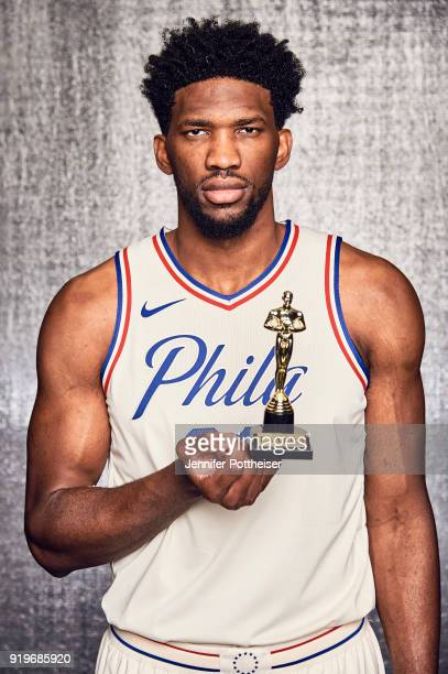 Joel Embiid of the Philadelphia 76ers poses for a portrait during AllStar Saturday Night as part of 2018 NBA AllStar Weekend on February 17 2018 at...
