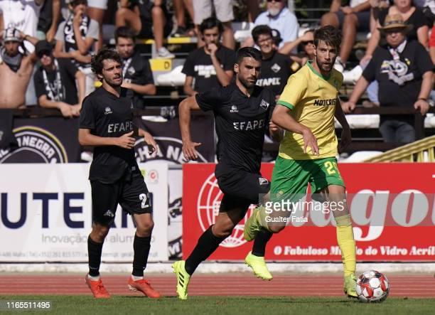 Joel Ferreira of CD Mafra in action during the Liga Pro match between CD Mafra and Academica Coimbra at Estadio do Parque Desportivo Municipal de...