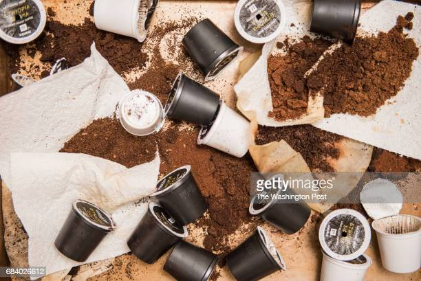 Joel Finkelstein of Qualia Coffee and Tito Pena of Wydown Coffeebar attempt to improve Keurig k cup coffee. The carnage.
