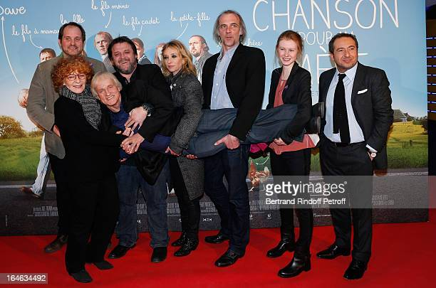 Joel Franka Michele Moretti Dave Guy Lecluyse Sylvie Testud Sam Louwyck Mathilde Goffart and Patrick Timsit attend 'Une Chanson Pour Ma Mere' movie...