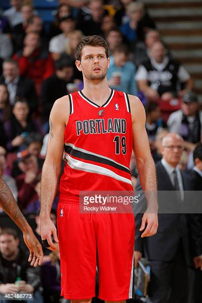 Joel Freeland of the Portland Trail Blazers in a game against the Sacramento Kings on January 7 2014 at Sleep Train Arena in Sacramento California...