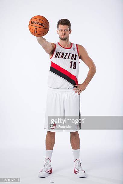 Joel Freeland of the Portland Trail Blazers poses for photos during the teams annual Media Day September 30 2013 at the Moda Center in Portland...