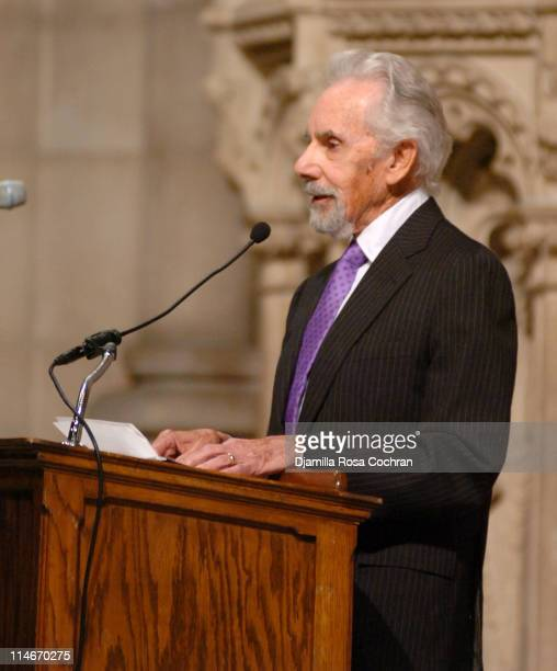 Joel Freeman at Riverside Church during the funeral service for Photographer Gordon Parks on March 14 2006 in New York City