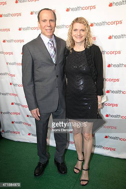 Joel Fuhrman and Lisa Fuhrman attend the 9th Annual HealthCorps' Gala at Cipriani Wall Street on April 29 2015 in New York City