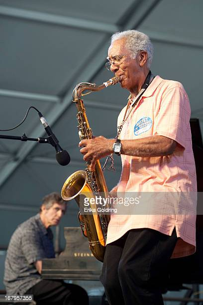 """Joel Futterman and Edward """"Kidd"""" Jordan perform during the 2013 New Orleans Jazz & Heritage Music Festival>> at Fair Grounds Race Course on May 2,..."""