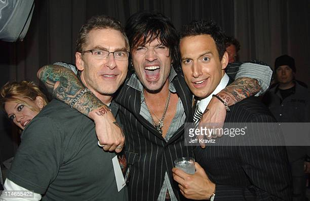 Joel Gallen Tommy Lee and Elon Gold during Comedy Central Roast of Pamela Anderson After Party at Sony Pictures Studio in Culver City California...