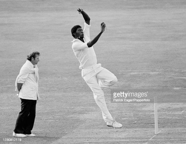 Joel Garner bowling for Somerset during the Gillette Cup Final between Northamptonshire and Somerset at Lord's Cricket Ground, London, 8th September...