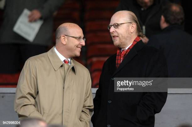 Joel Glazer and Avram Glazer, owners of Manchester United, during the UEFA Champions League Quarter-Final second leg match between Manchester United...