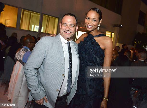 Joel Goldman and Faye Moseley attend the Project Angel Food's 25th Anniversary Angel Awards 2014 honoring Aileen Getty with the Inaugural Elizabeth...