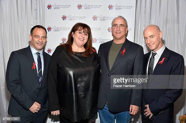 Joel Goldman Managing Director of The Elizabeth Taylor AIDS Foundation Barbara Berkowitz Christopher Wilding Tim Mendelson attend The Elizabeth...