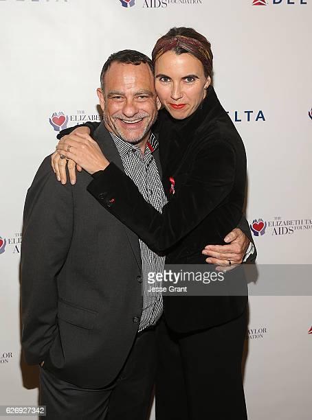 Joel Goldman Managing Director The Elizabeth Taylor AIDS Foundation and Naomi Wilding Ambassador Elizabeth Taylor AIDS Foundation attend The...