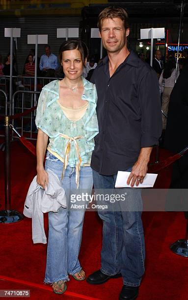 Joel Gretsch and wife Melanie Ann Shatner at the Orpheum Theatre in Los Angeles CA