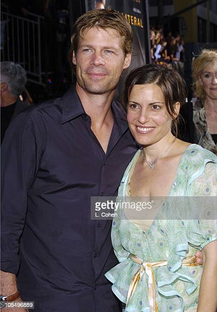 Joel Gretsch and wife Melanie Shatner during Collateral Los Angeles Premiere Red Carpet at Orpheum Theatre in Los Angeles California United States