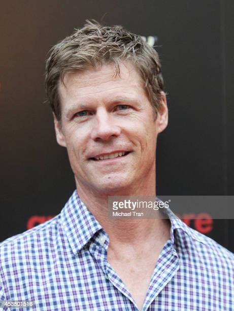 Joel Gretsch arrives at the Los Angeles premiere of Are You Here held at ArcLight Hollywood on August 18 2014 in Hollywood California